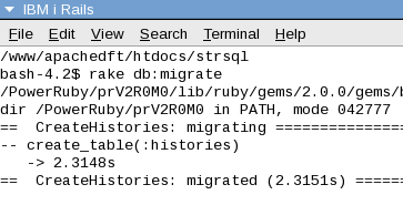 migrate history